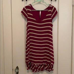 Kensie striped mini dress size S